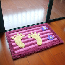 3D Large Foot Floor Bath Mat Toilet Carpets, Non-slip Bathroom Rugs Carpets, Bedroom Toilet Mats Rugs Carpets,alfombra tapete(China)