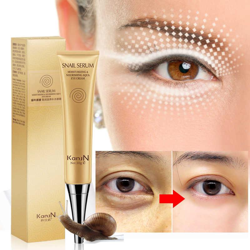 Snail Eye Cream Dark Circles Anti Puffiness Remove Wrinkles