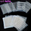 30 Sheet 3D Lace Nail Art Stickers Decals Manicure Decoration Nail Accessories White Black DIY Tools Beauty Nails