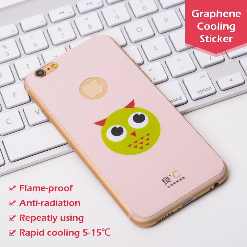 US $29 0 |OEM Cute Owl Pink Anti radiation Graphene Cooling Mobile Phone  Sticker Flame proof Phone Case for iPhone 6 Plus on Aliexpress com |  Alibaba
