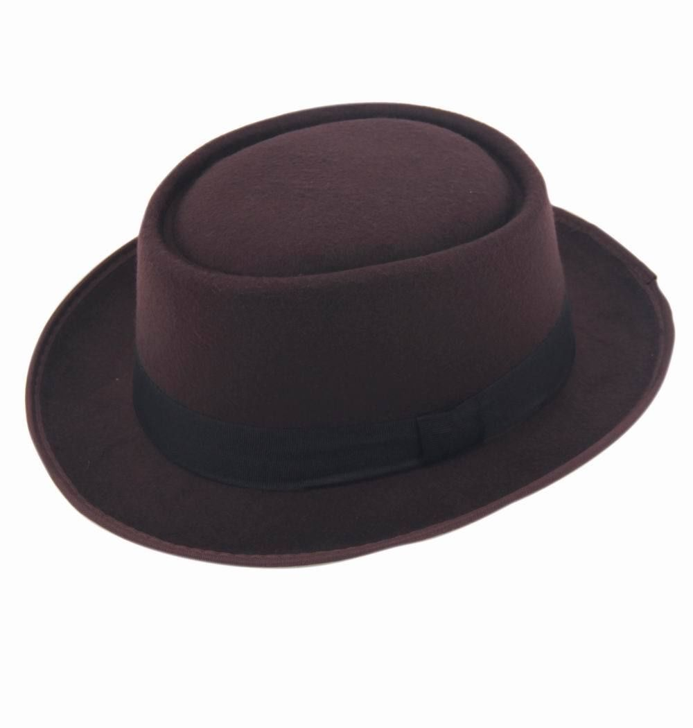 9 цветов, унисекс, женская, мужская шляпа от солнца, фетровая шляпа, свинина, пирог, крушаемая шляпа, ломающаяся Панама, BB шляпа, Уолтер Уайт ХАЙЗЕНБЕРГ, 25 - Цвет: coffee