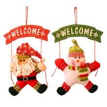 Santa Claus Snowman Tree Door Christmas Decoration For Home Ornament Decor Hanging Pendant Christmas  FEN#