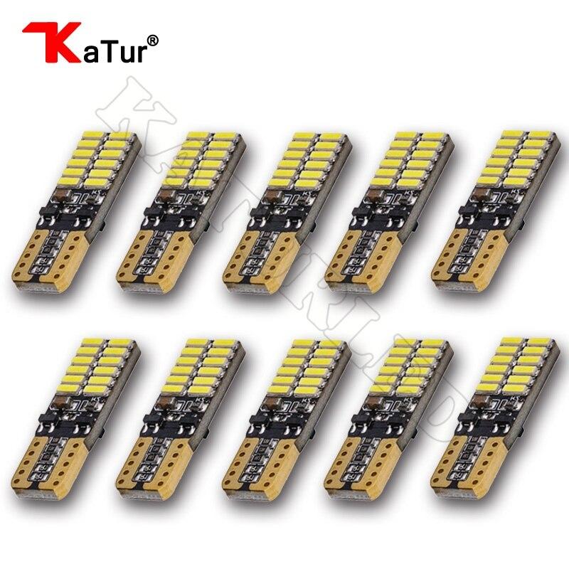 Katur 10x Χωρίς πολικότητα T10 800 Lumens W5W LED - Φώτα αυτοκινήτων - Φωτογραφία 1
