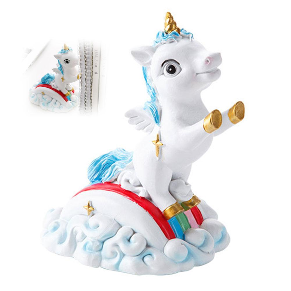 Resin Book Holder for Reading Cartoon Unicorn Bookends Restoring Ancient ways Desktop Decor Bookends for Christmas Gifts in Figurines Miniatures from Home Garden