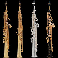 Brand New France Henri Paris Professional Soprano Saxophone 803 Silvering Musical Instruments Professional Sax Soprano 80III