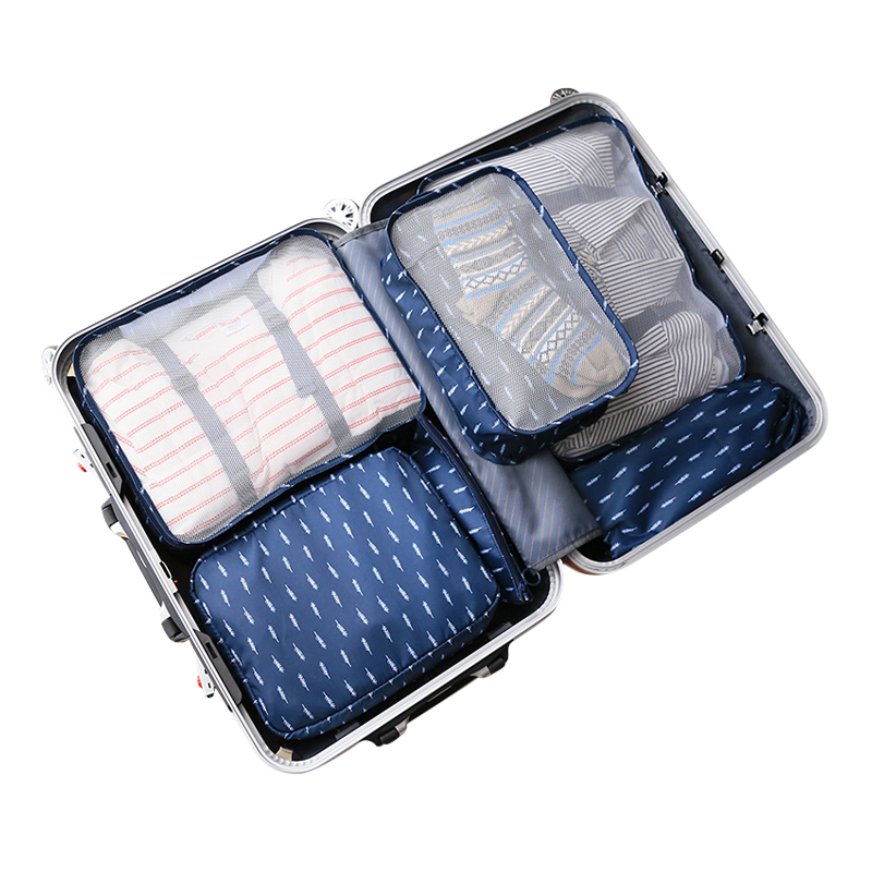 6Pcs/Set Travel Bag Portable Clothing Underwear Shoe Sorting Storage Pouch Women Men Luggage Case Accessories Supplies Products
