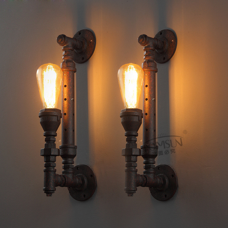 Vintage Bedroom Wall Lamps : High Quality Modern Wall lamp vintage Creative industrial loft retro wall Sconce Light living ...