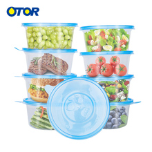 OTOR 10pcs Disposable Plastic Bento Box Meal Storage Food Prep Lunch Reusable Microwavable Containers Home Lunchbox