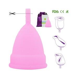 Image 3 - Hot البيع كأس الطمث للنساء المؤنث النظافة الطبية 100% كوب سيليكون الحيض قابلة لإعادة الاستخدام سيدة كأس كأس الحيض من منصات