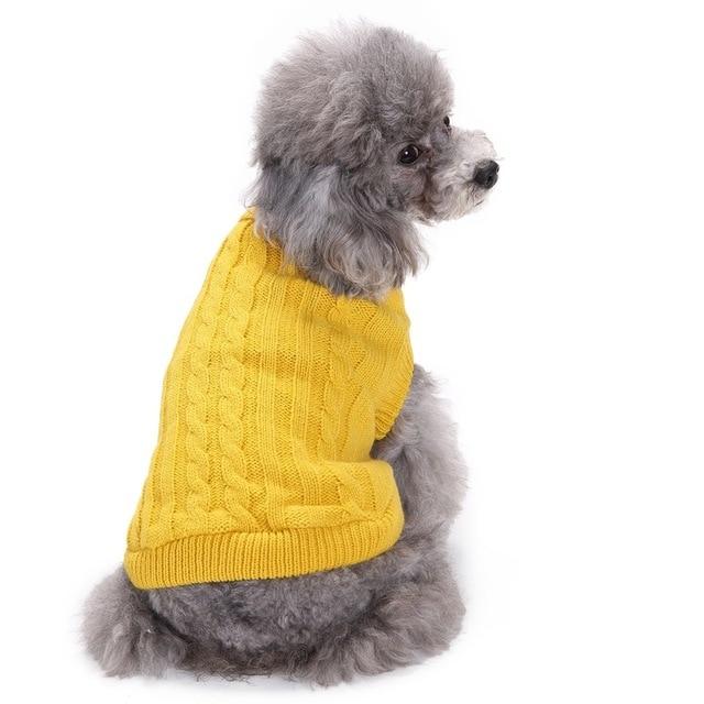 модная однотонная одежда для собак зимняя теплая элегантная одежда