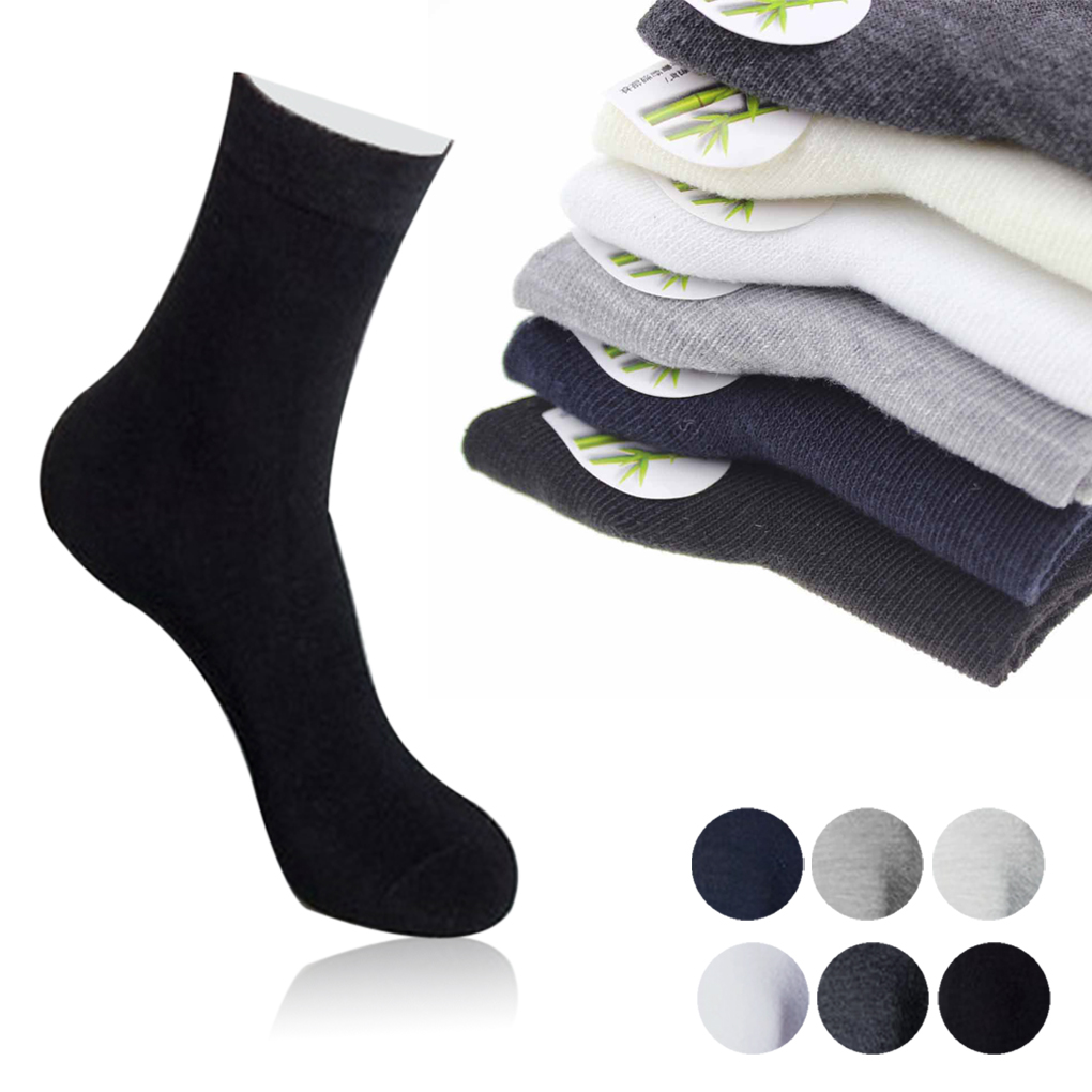 3 pairs breathable Cotton & Bamboo Fiber Classic Business