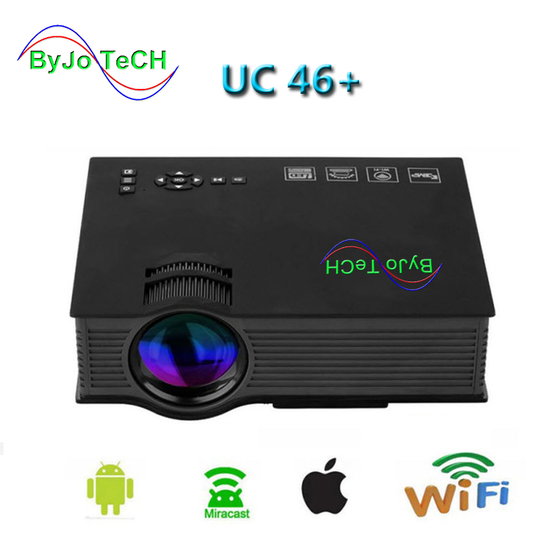 ByJoTeCH UC46+ theater multimedia projector Original mini-led projector with Full HD 1080p Video Better than UC46