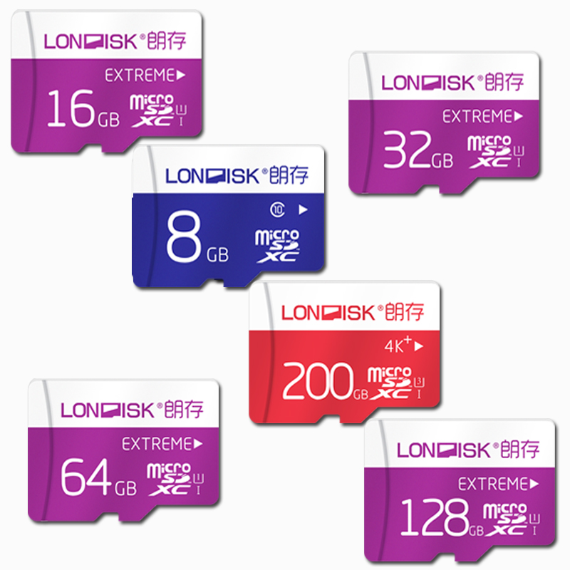 Londisk Micro SD Card 32GB Class10 8GB/16GB/64GB/128GB UHS-1 200GB UHS-3 Flash Memory Card TF Card For Smartphone Pad Camera aego micro sd 32gb flash memory card 600x 8gb 64gb 128gb sdxc class10 16gb uhs 1 high speed tf card for smartphone tablet pad