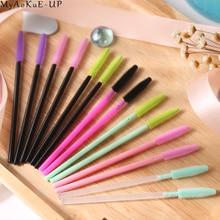1000 pcs/lot Wholesale Silicone Eyelashes Brushes 21 colors  Disposable Makeup Brushes Eyelash Extension Mascara Wand Applicator