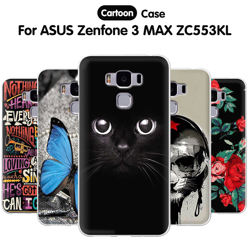 EiiMoo Case For <font><b>ASUS</b></font> Zenfone 3 Max ZC553KL Case Funda 5.5 Silicone Cartoon Back Cover For <font><b>ASUS</b></font> Zenfone 3 MAX ZC553KL Phone Case image