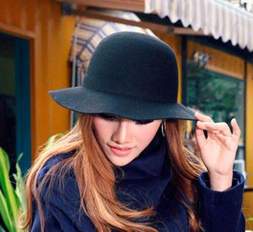 413e7e706 US $65.55 |6pcs/lot 2017 Ladies Pure Wool Felt Bucket Hats Spring Autumn  Women Plain Floppy Fedora Caps Womens Winter Dome Cap Wholesale-in Fedoras  ...