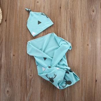 Fashion Toddler Newborn Baby Boy Girl Warm Blankets Christmas Cute Deer Soft Stretch Wrap Swaddle Blanket