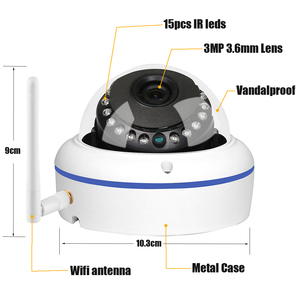 Image 3 - GADINAN HD 5MP 2592*1944 WiFi Wireless ONVIF Dome IP Camera Outdoor Waterproof Security Camera with Built in Micro SD Card Slot