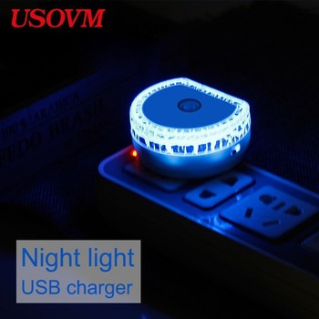 EU US Led Mini Night Sensor Light For Children Energy Saving Light Control Induction USB 5V Charge Cloud Baby Lamp Nightlight can charge mini both head energy saving originality led to beam the lantern show meeting wireless move downlights lo463
