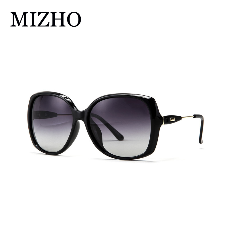 MIZHO Alta calidad HD Retro Mujer Gafas de sol polarizadas Conducción Diseño original de la marca Anti Glare Shield Sunglass Ladies Luxury