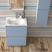 600mm Free Standing Simple vanity Stone Solid Surface Blum Drawer Storage Cloakroom Wall Hung Cabinet 2940