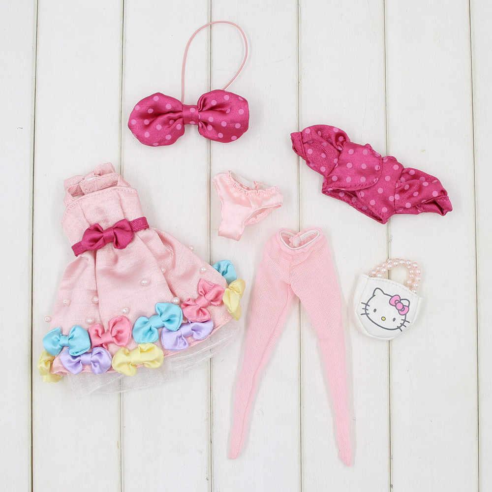 Blyth Кукла Одежда для цветов бабочка конфеты платье подходит для 1/6 30 см нормального и совместного тела