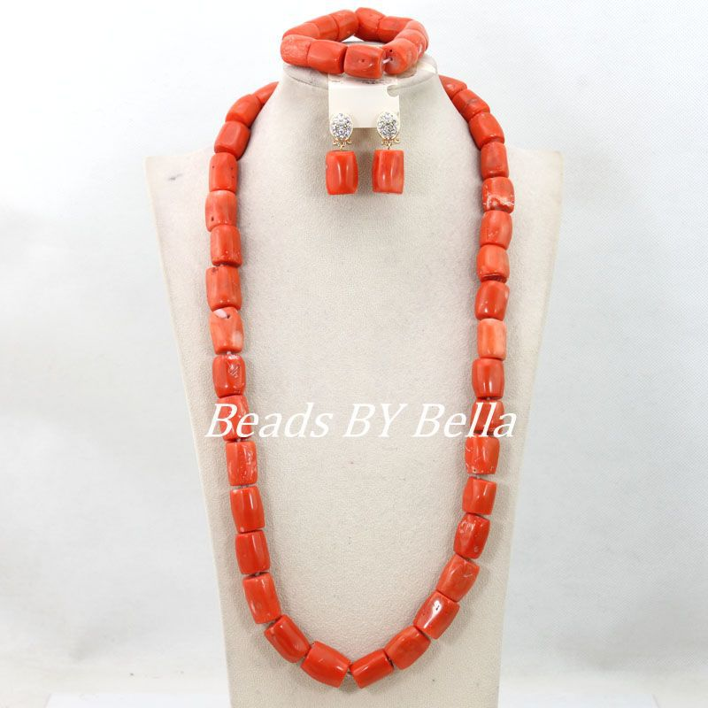 Splendid Indian Nigerian Wedding African Jewelry Set Coral Beads Long Necklace Women Costume Jewelry Set Free Shipping ABY835Splendid Indian Nigerian Wedding African Jewelry Set Coral Beads Long Necklace Women Costume Jewelry Set Free Shipping ABY835