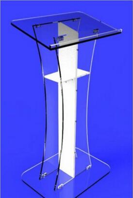 Acrylic / Podium / Lectern / Pulpit / Plexiglass / Lucite / Clear With Center Cross