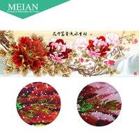 Meian Special Shaped Diamond Embroidery Flower Peony 5D Diamond Painting Cross Stitch 3D Diamond Mosaic Decoration