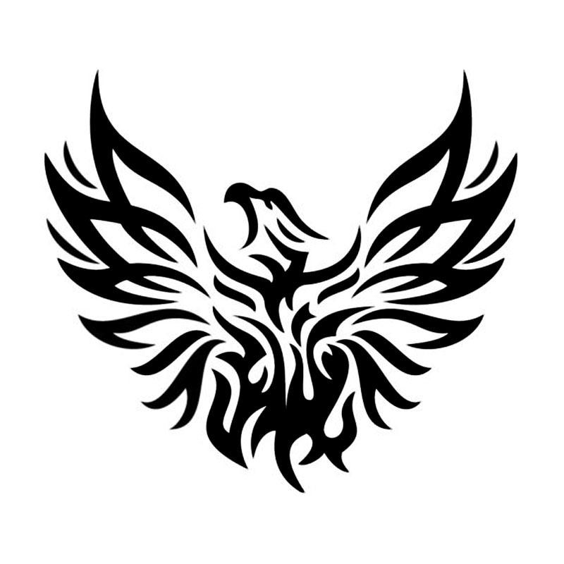 15 2 14cm phoenix mythical animal car styling amazing bird bumper decal car stickers black. Black Bedroom Furniture Sets. Home Design Ideas