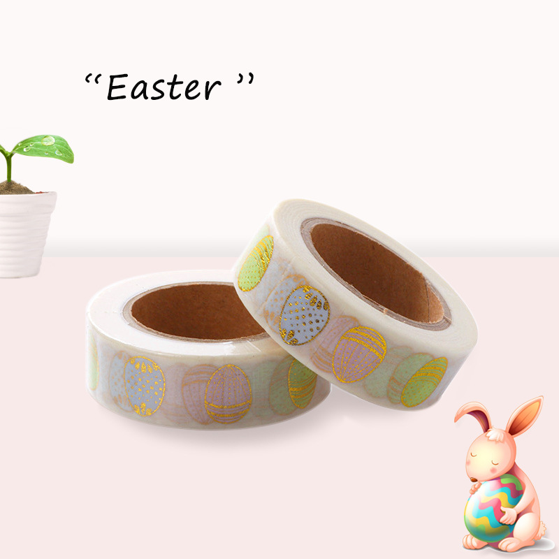 15mm X 10m Print Easter Egg Japanese Washi Tape Office Adhesive Scrapbooking Tools Kawaii Decorative Christmas Cute Craft Gift