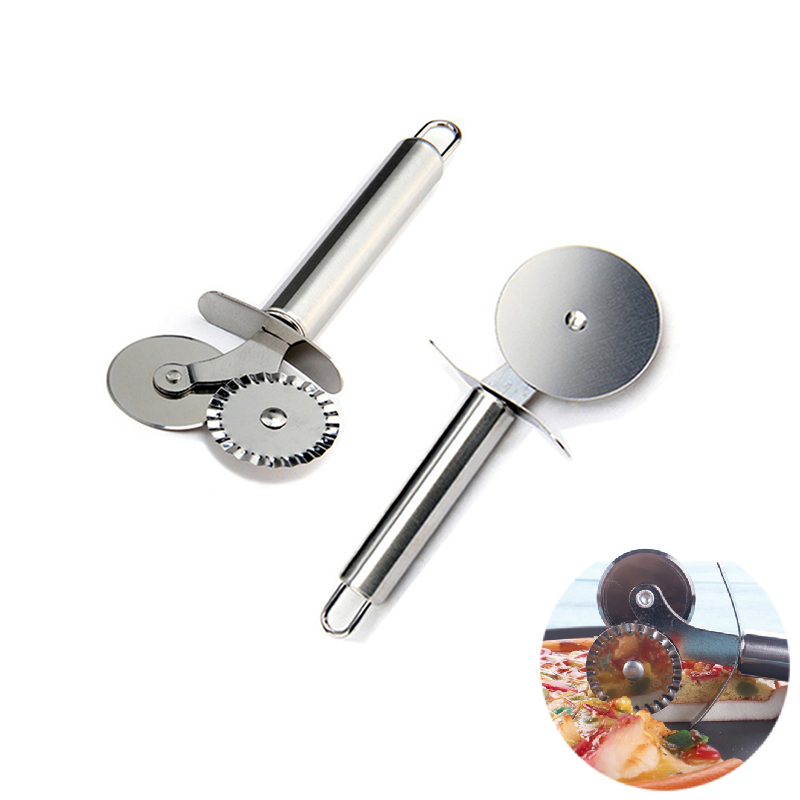 Stainless Steel Pizza Cutter Pizzas Knife Cake Bread Pies Round Knives Cutters Household Pizza Wheels Cooking Kitchen Tools нож для пиццы