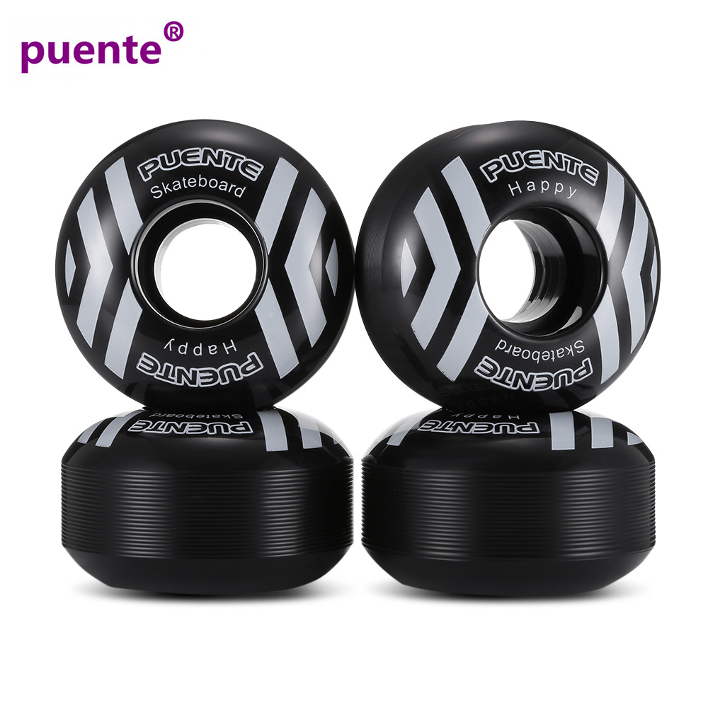 PUENTE 52mm PU Skateboard Wheels Durable Impact Resistance High-Elastic Skateboard Wheel 4pcs