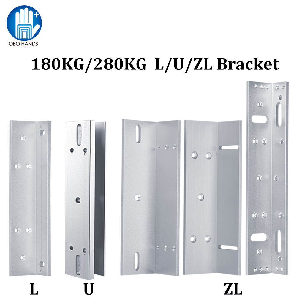 Lock Bracket 180KG/280KG Electric Magnetic Lock L/U/ZL Shape Holder for Frameless Glass Door Access Control System Accessories цены
