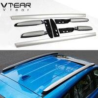 Vtear для Toyota RAV4 крыша багажник рейлинги багажник украшения Алюминий сплав внешний дизайн partsrack аксессуары