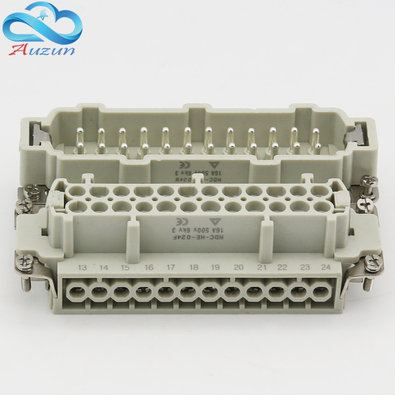 24 Core Heavy Duty Connector HDC-HE-24 The Male Connector And The Female Connector 16A500V Aviation Plug Core