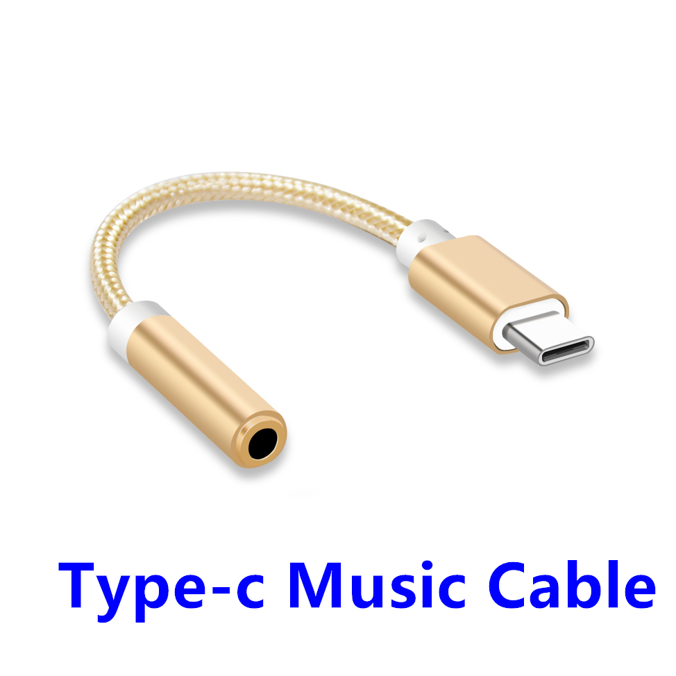 FFFAS Type-C Aux Earphone Adapter Type C to 3.5mm Audio Music Cable Converter for Xiaomi 6 6X Note3 Huawei P20 Pro Mate10 Pro