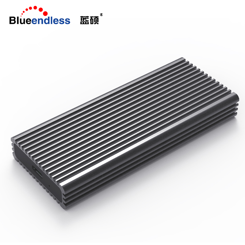 Blueendless NVME M 2 SSD Cases Type-c Port High Speed Transmission Hard Drive Enclosure Heat Dissipation Black Aluminum SSD