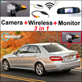 3 in 1 Special Camera & Wireless Receiver & Mirror Screen Rear Parking System For Mercedes Benz E Class MB E200 E230 E350 E250