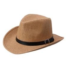 2018 Cowboy hat Sir straw for men and women summer beach AD432