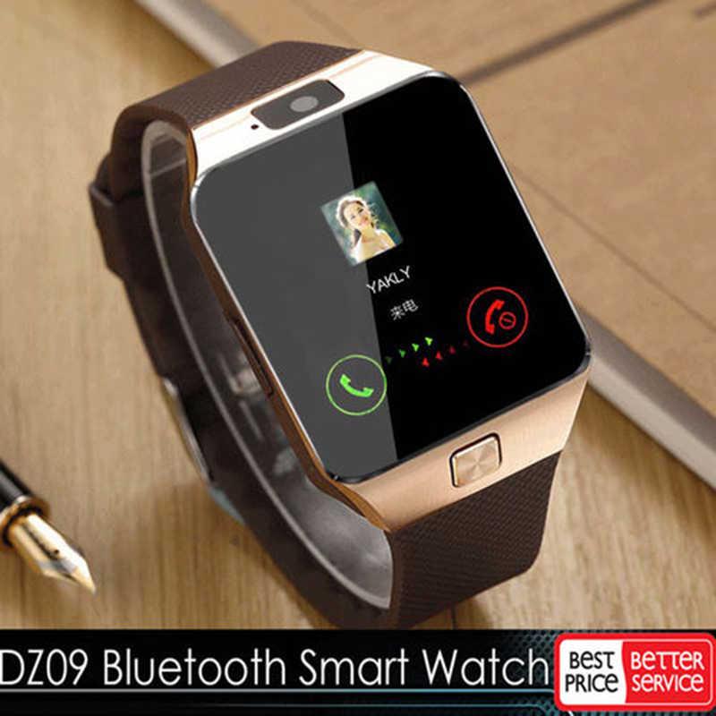 DZ09 スマート腕時計 2020 男スマートウォッチ Bluetooth 接続腕時計メンズデジタル時計アンドロイド SIM TF カード iphone サムスン HUAWEI 社
