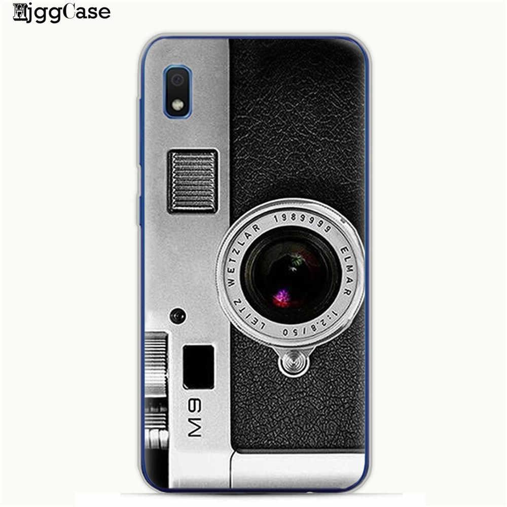 Fita do vintage Câmera Gameboy Padrão Caso Pintado Para Samsung Galaxy M10 M20 M30 S10 S10e S9 S8 Plus A10 A20 a30 A50 A70 Capa
