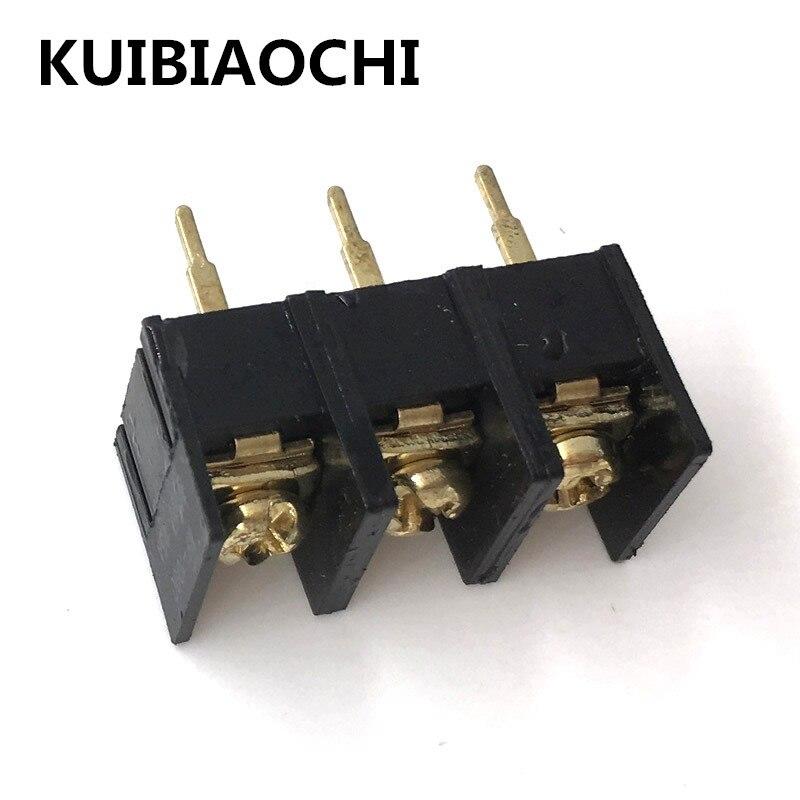 10pcs/ KF/DG1000-3P 10MM 300V 25A 10mm pitch connector pcb screw terminal block connector 3pin