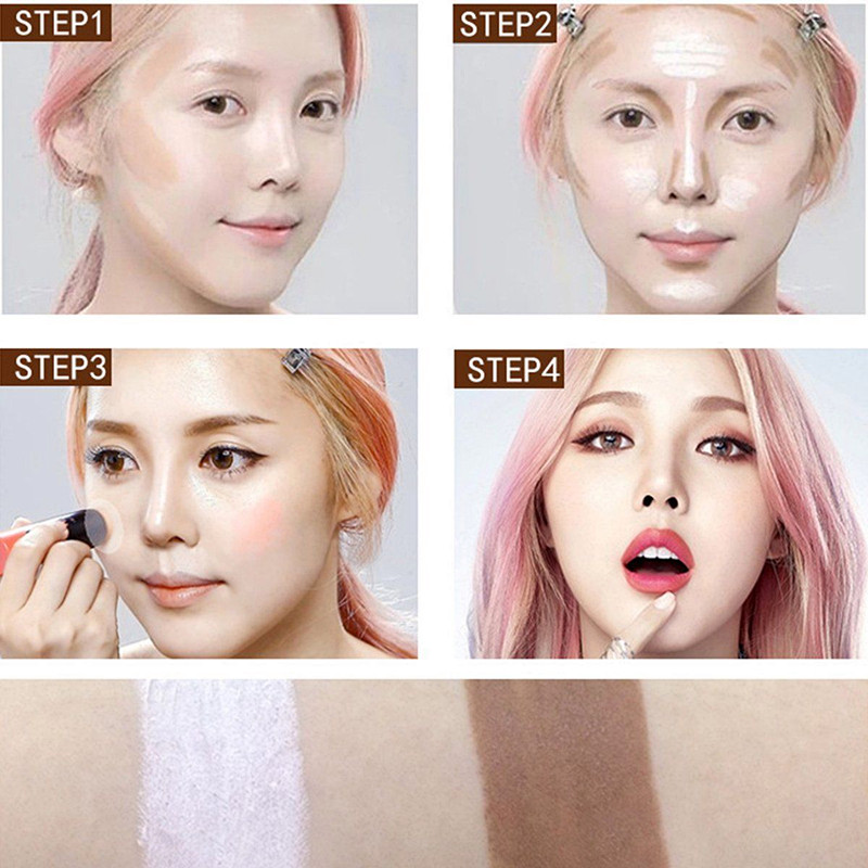 3D Face 2 in1 Double Use 4 Colros Contour Stick Highlighter Stick ...