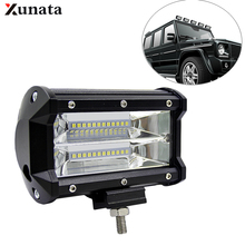 1/2/4PCS 5inch 72W LED Work Light IP67 Waterproof Truck Off Road Spotlight 24LED Universal Car light for ATV UAZ SUV Tractor