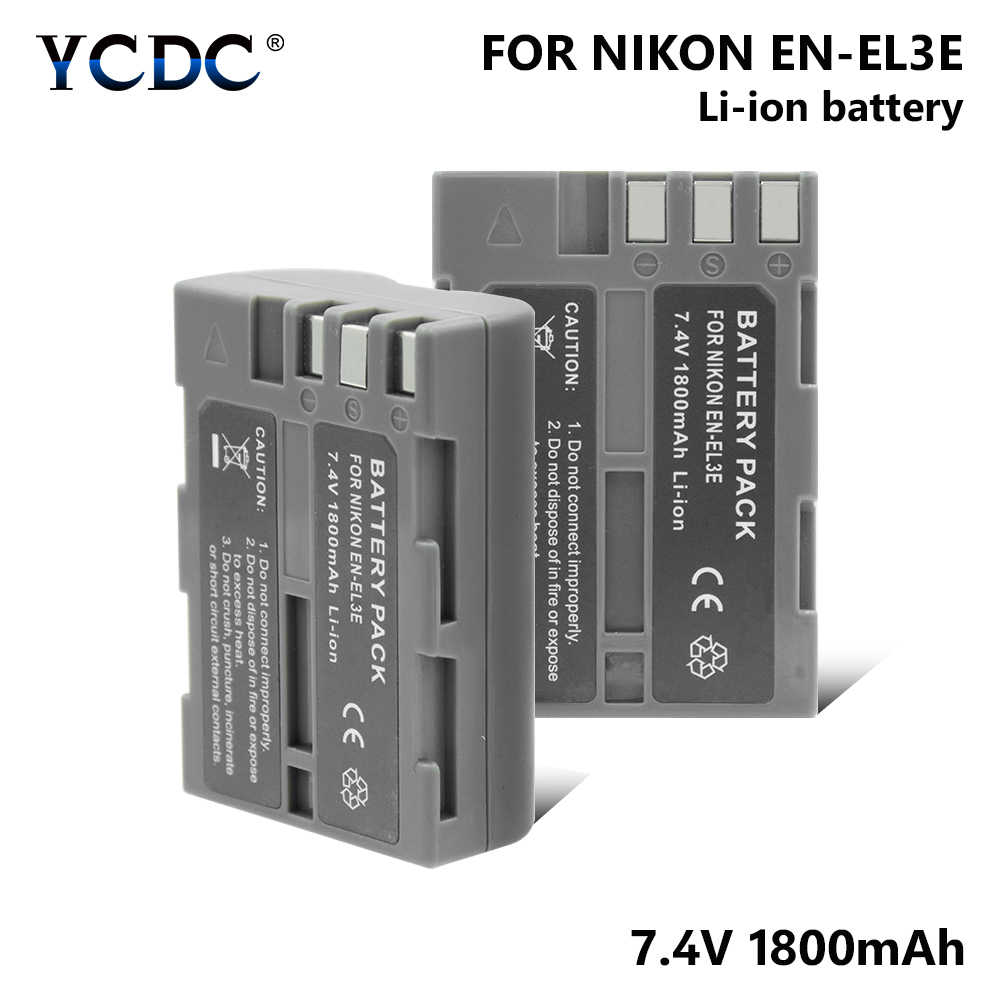 EN-EL3E EN-EL3A Battery For Nikon D90 D80 D70 D50 D100 D200 D300 1800mAh  Recharge battery