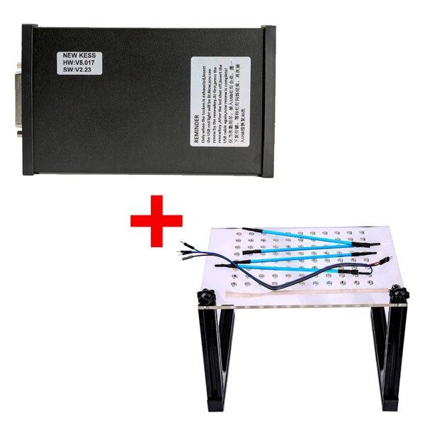 Programmeur V2.23 Kess V2 Firmware V5.017 ECU plus cadre BDM LED avec 4 sondes