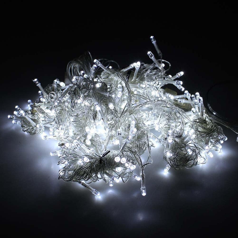 ФОТО AC 220V 10W 3M*3M 8-Mode 300-LED String Lights Window Curtain Icicle Lights with plug for Holiday / Party / Hotel Decoration