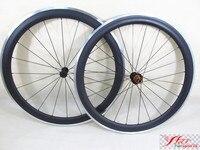 FSC50-CA-23 סין אופני כביש 700c רכזת ED Farsports גלגלים עם משטח בלם אלומיניום, סגסוגת פחם כביש זוג גלגלי אופני 700c
