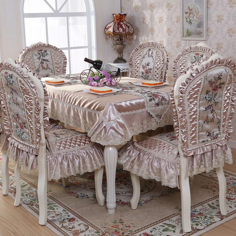 상위 학년 퀼트 식탁 천으로 두꺼운 따뜻한 의자 커버 쿠션 천으로 예술 고급스러운 레이스 천으로 테이블 천을 설정-에서식탁보부터 홈 & 가든 의  그룹 2